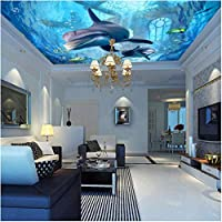 Mingld カスタム写真壁紙カスタムドリームパレス水中世界背景壁画寝室キッズルームホステル天井壁紙-150X120Cm