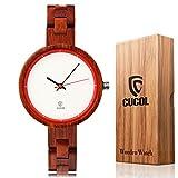 Cucolレディース竹木製腕時計軽量カジュアルLadyウォッチボックスギフト スタイル4