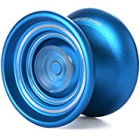 MAGICYOYO K7 レスポンシブ アルミ製 Yoyo 初心者向き 1本ストリングス+グローブ+袋セット ブルー