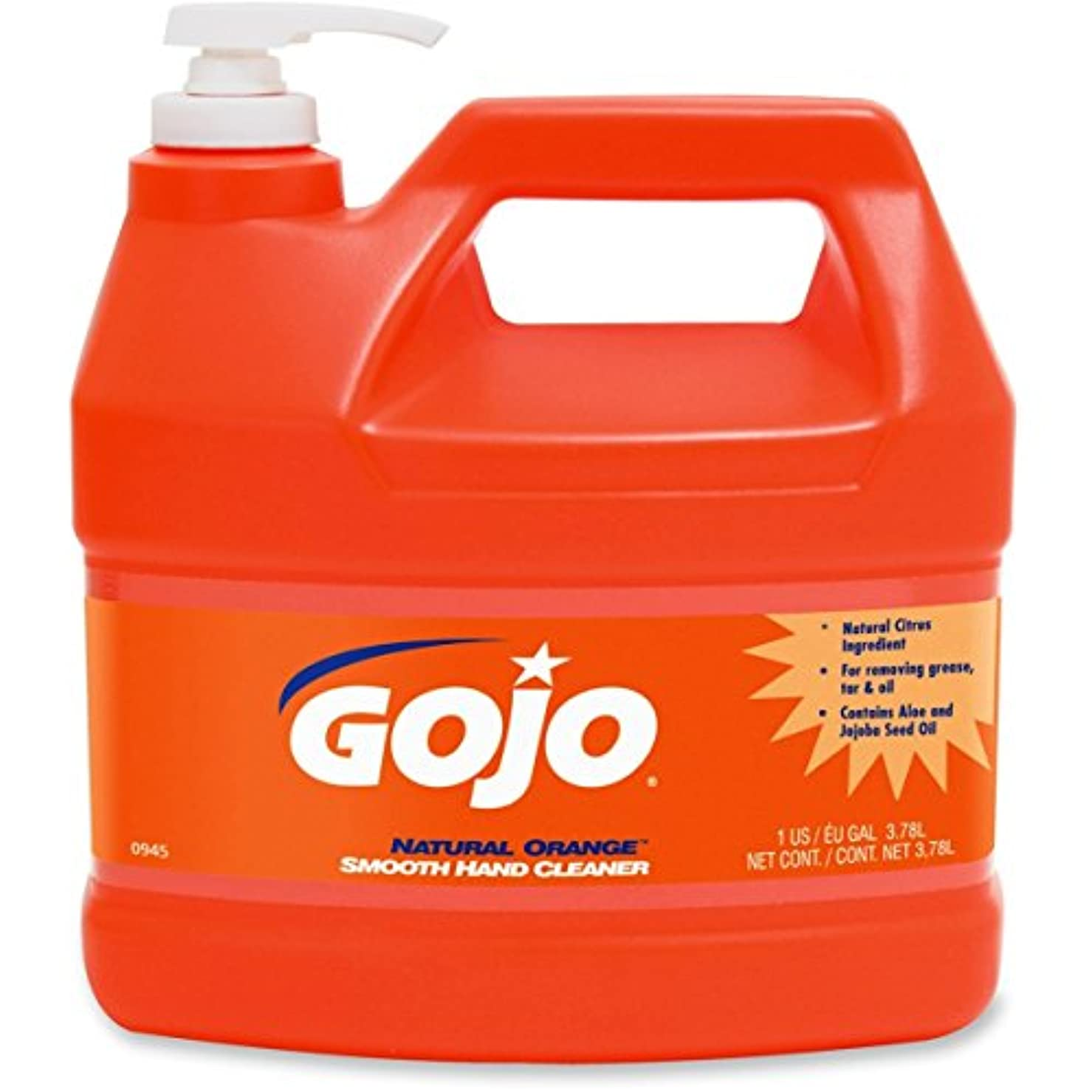 四面体収まる染色goj094504 – GOJOナチュラルオレンジSmooth heavy-duty Hand Cleaner