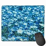TOTOPM マウスパッド 滑り良い 滑り止め 耐摩耗性 おしゃれ 満開のネモフィラデザイン 水洗い PC ラップトップ オフィス用 ゲーム向け レーザー&光学式マウス対応 250*300 *3mm (抗菌性・静電特性に優れています)