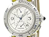 [カルティエ]Cartier【CARTIER】カルティエ パシャ 38 GMT パワーリザーブ ステンレススチール レザー 自動巻き メンズ 時計W31037H3(BF097631)[中古]