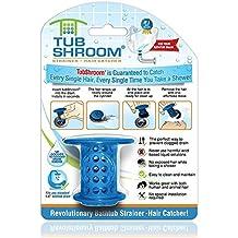TubShroom The Revolutionary Tub Drain Protector Hair Blue