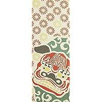 プレーリー そそぎ染め(注染)金糸手ぬぐい 獅子舞踊り 35×90cm TEK-001