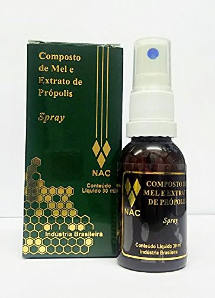 コーヒー化合物美人ブラジル直輸入品ナイール(NAC)社製 高品質プロポリス?スプレー(無添加?グルテンなしの喉スプレー)30ml