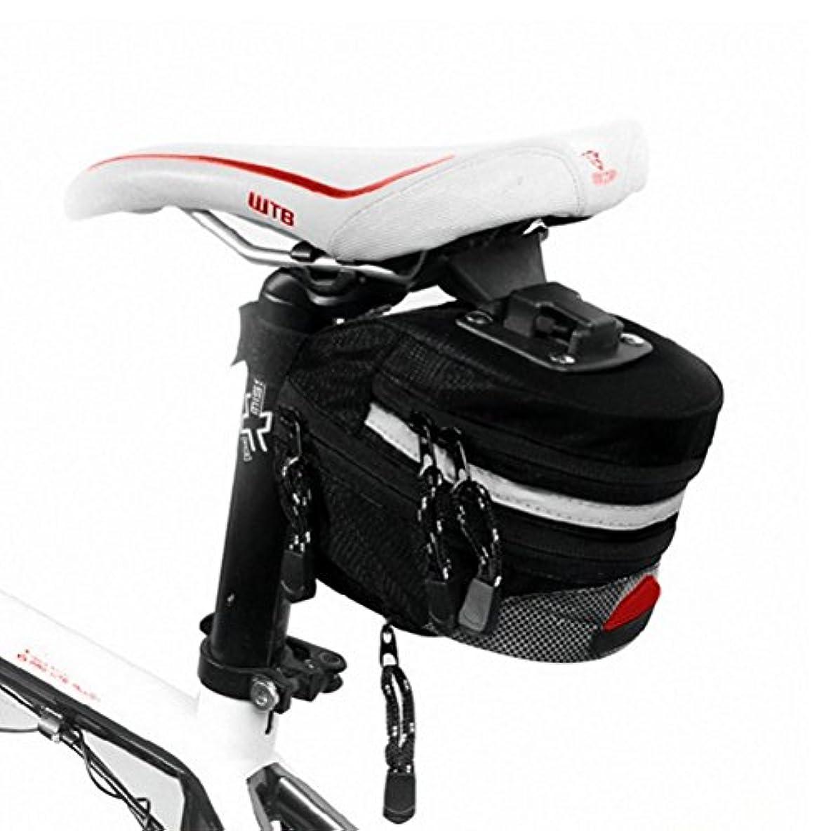 適用済み無意識縞模様のZhhlinyuan 良質 Bike Water Resistant Seat Saddle Wedge Pack Pannier Storage 自転車 Bag YX-1305