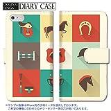 301-sanmaruichi- iPhone6s ケース iPhone6 ケース 手帳型 おしゃれ 乗馬 競馬 馬 手帳ケース