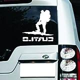 My Vision 車用ステッカー クール 登山家 (ホワイト) MV-TOZSTC-WH