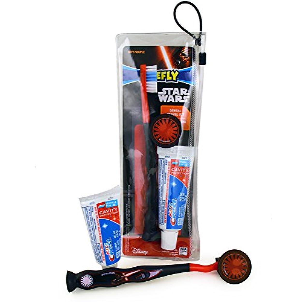 返還賢いサミットFirefly Star Wars Dental Travel Kit スターウォーズ デンタルトラベルキット(歯ブラシ、歯ブラシキャップ、子供用歯磨き粉24g)
