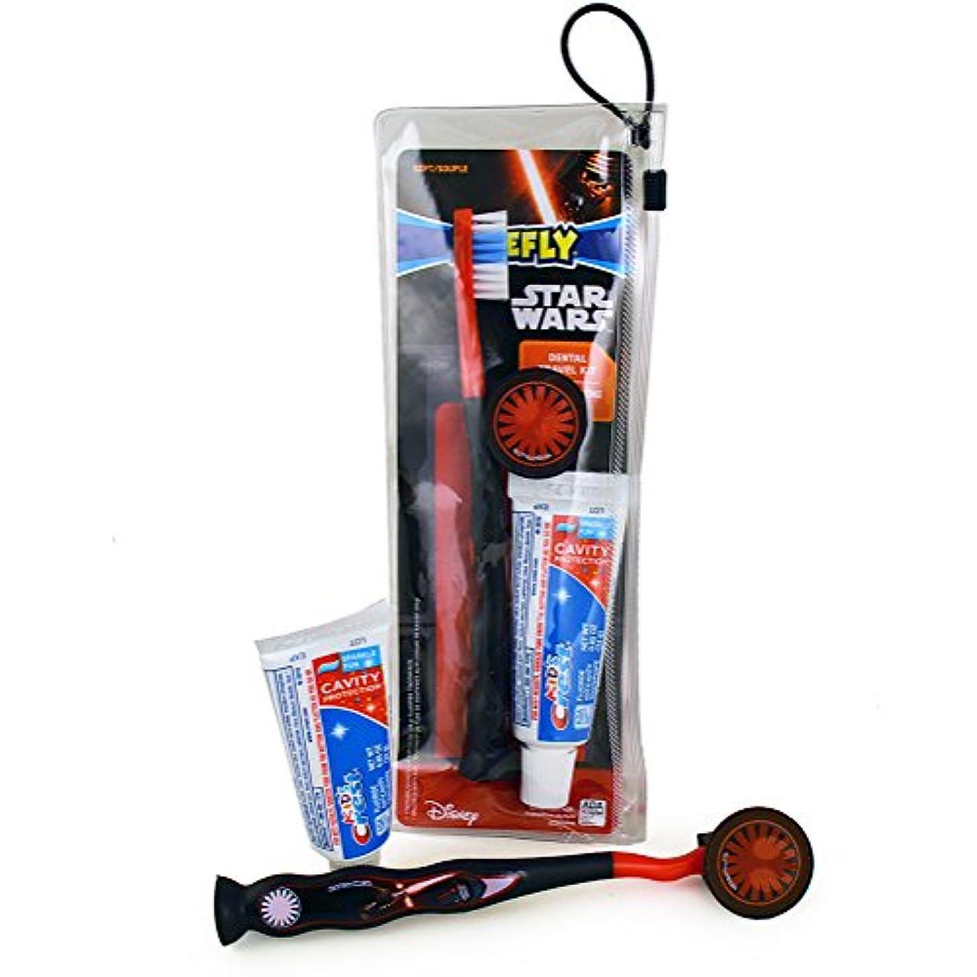 アルネ復活させる成熟Firefly Star Wars Dental Travel Kit スターウォーズ デンタルトラベルキット(歯ブラシ、歯ブラシキャップ、子供用歯磨き粉24g)