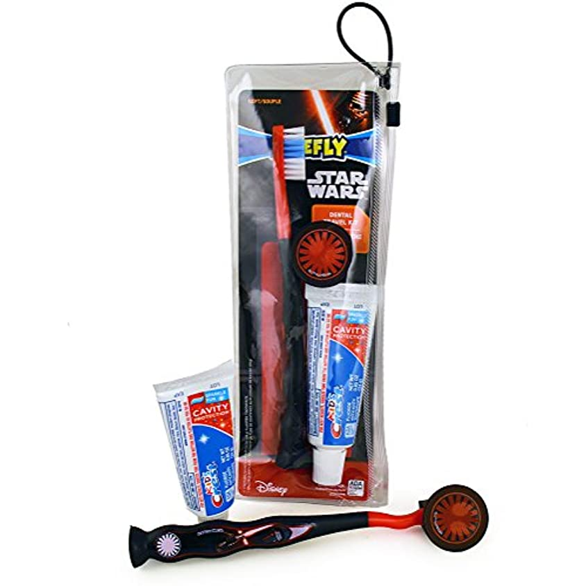 アニメーション憂鬱な夜Firefly Star Wars Dental Travel Kit スターウォーズ デンタルトラベルキット(歯ブラシ、歯ブラシキャップ、子供用歯磨き粉24g)