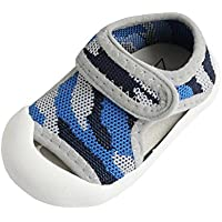 COMVIP Baby Toddler Breathable Closed-Toe Mesh Summer Sneakers Sandals