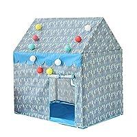 子供テント - 折り畳み式 テント ポータブル 玩具収納 秘密基地 プレゼント 室内テント 室外テント プレゼント (青)