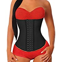 YIANNA Women's Underbust Latex Sport Girdle Waist Training Corset Hourglass Body Shaper