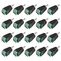 uxcell RCAオス-AVネジターミナルコネクター RCAオスコネクター‐AV 2-ネジ ターミナル オーディオ ビデオ アダプター CCTV DIY 20個入り