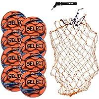 Select Campo サッカーボールパッケージ - ボールネットとハンドポンプ付きサッカーボール8個パック