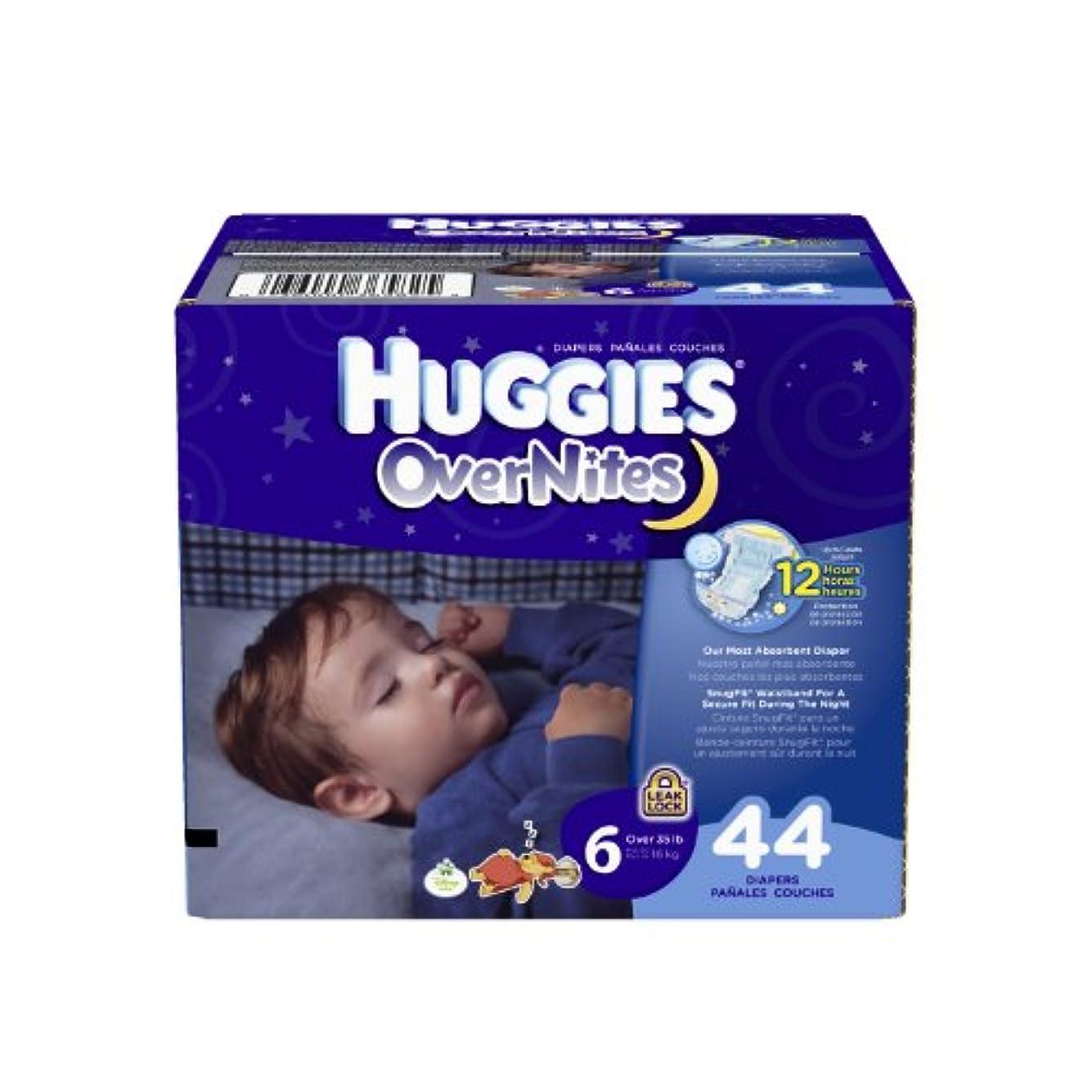 エチケット偽造刻むHuggies OverNites Diapers, Size 6, Big Pack, 44 Count by Huggies