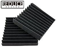 REDUCE DESIGN 吸音材 吸音・防音 緩衝ウレタン 2枚セット 30cm×30cm×5cm 波形 緩衝クッション 宅録 RD30-CF1 国内製造品