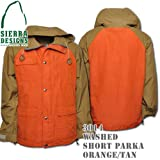 Washed Short Parka 3014: Orange / Tan