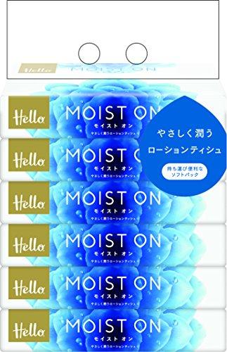 ハローMOIST ON ソフトパックティシュペーパー 110組(6個) 1セット(2パック)