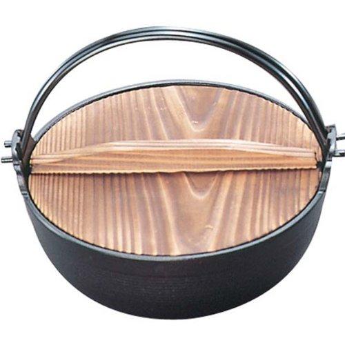 南部 鉄 ふる里鍋 深型 18cm 黒塗り 21007