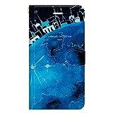 iPhone8 iPhone7 手帳型 ケース カバー 地球の街 よう 月 宇宙 少女 旅 おしゃれ イラスト