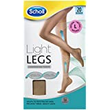 Scholl Light Legs Compression Tights 20 Denier for Tired Legs, Natural, Large