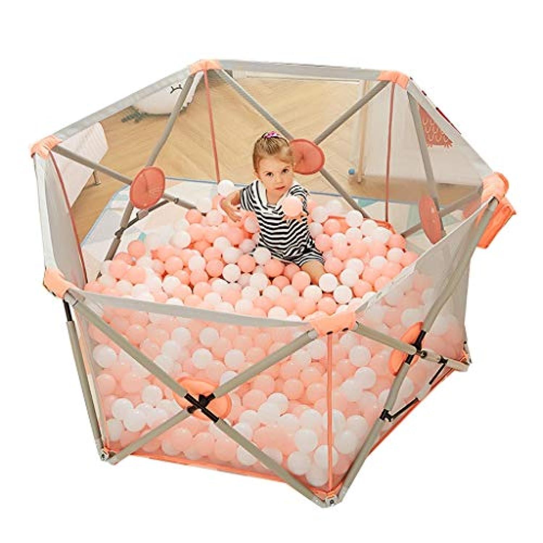 子供の遊びフェンスの幼児の安全フェンス屋内の遊び場の赤ちゃんのクロールマットの幼児 (Color : Pink, Size : 146 * 77cm)