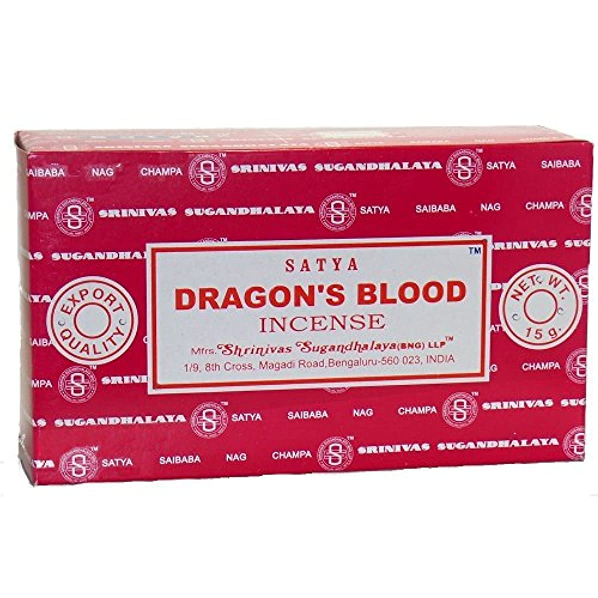 検証科学的クラフトBuycrafty Satya Champa Dragon's Blood Incense Stick,180 Grams Box (15g x 12 Boxes)
