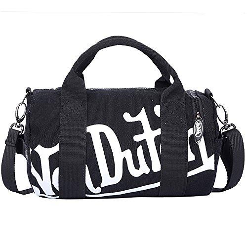 (ヴォンダッチ) Von Dutch バッグ BAG ボンダッチ ミニダッフル ボストンバッグ ショルダーバッグ 2way メンズ レディース ブランド 並行輸入品 ((von1205) ブラック×ホワイト)