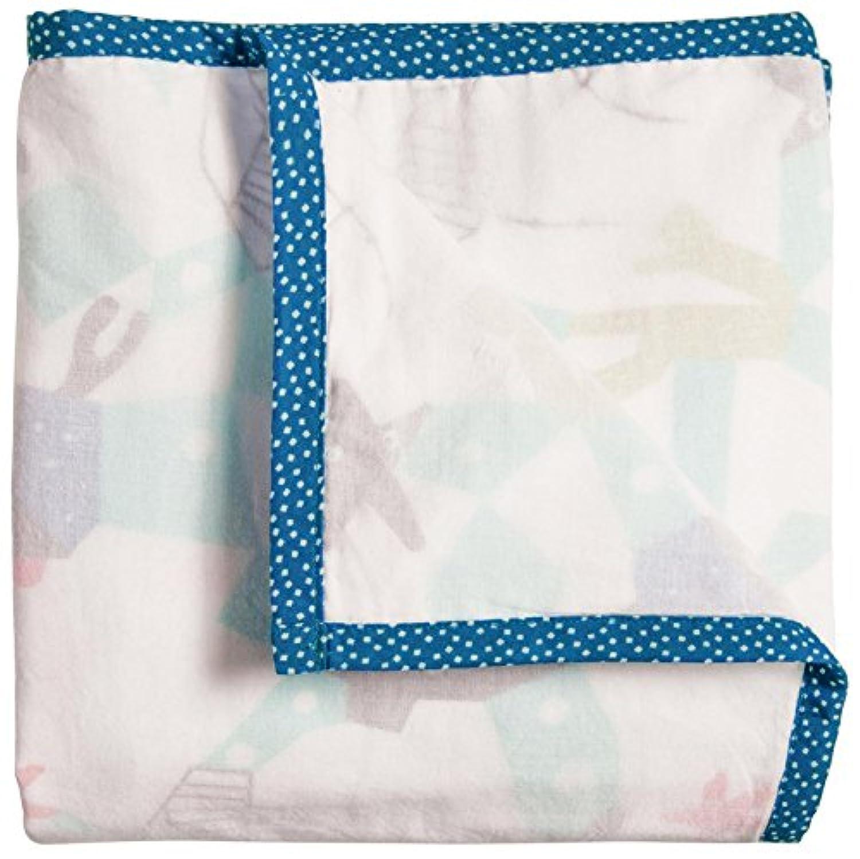 Nursery Works 3-Layer Organic Muslin Blanket, Reef, Oceanography by Nurseryworks