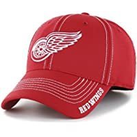 (Detroit Red Wings, Medium/Large, Red) - NHL Start Line OTS Centre Stretch Fit Hat