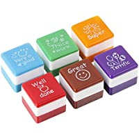 New Arrival Cute Cartoon Kids Stamp Set Motivation Sticker School Scrapbooking Stamp DIY Teachers Self Inking Praise Reward Stamps