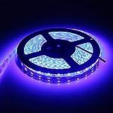 LEDテープ 防水 24V 5m 300連SMD5050 ブルー 青 白ベース 正面発光