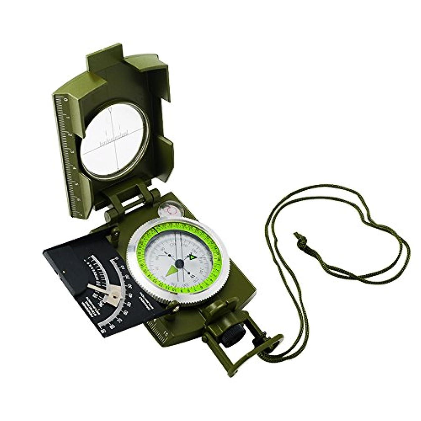 遠征連結するボイドCarejoy 折り畳み式コンパス プロフェッショナルコンパス 携帯型 軍用コンパス 蛍光 傾斜計/ワット