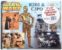 """STAR WARS 8"""" x 10"""" C - 3po and r2- d2クラシックホログラムVividVisionポスター"""