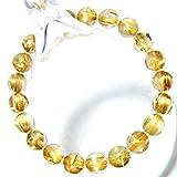 *ブラジル産 4A+級天然石ルチルクォーツ、ゴールドキャッツアイ・タイチンルチル クォーツ(黄金色)9~9.5mm珠パワーストーン.ブレスレット(女性LL.男性L.size)