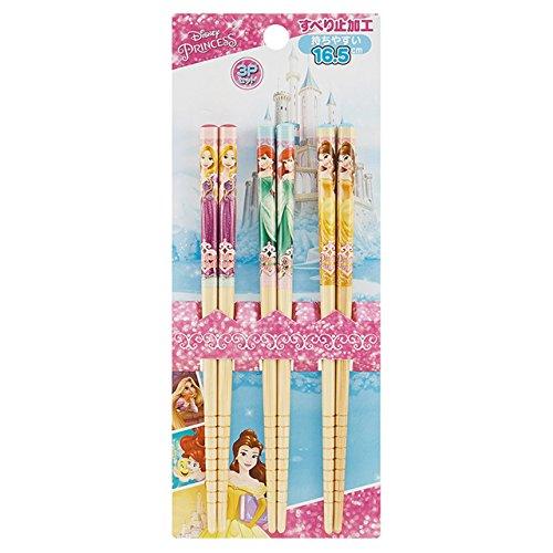 ディズニー プリンセス お箸 竹箸 3本セット[415968] ワンサイズ マルチカラー