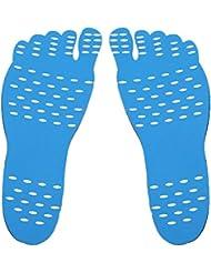 裸足足底目に見えない靴用HEALILYビーチフットパッド防水インソールMサイズ(ブルー)