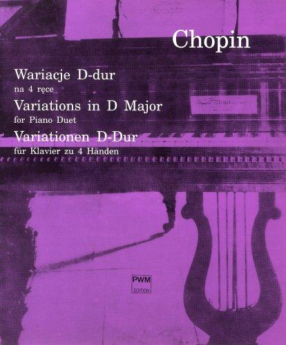 ショパン : ムーアの民族的な歌による変奏曲 ニ長調/ポーランド音楽出版社/ピアノ連弾(1台4手)