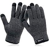 4UMOR 手套 手套 适用智能手机 触摸板 防寒 保暖 冬季用 男士&女士 礼物