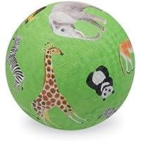 Crocodile Creek Wild Animals Green Playground Ball 7 inches Toy by Crocodile Creek
