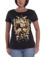 Babymetal ベビーメタル Tシャツ Fox Faces Brixton Event UK イギリス・イベント 公式 レディース スキニーフィット