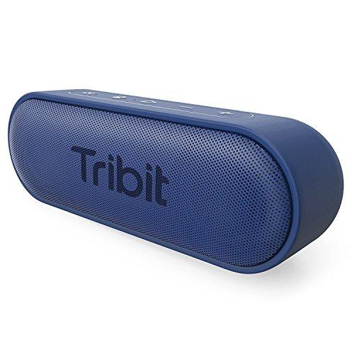 Tribit Bluetooth スピーカー (12W Bluetooth4.2 24時間連続再生)【低音強化/IPX7防水/ブルートゥース4.2/デュアルドライバー/大容量バッテリー内蔵】(ブルー) Xsound GO