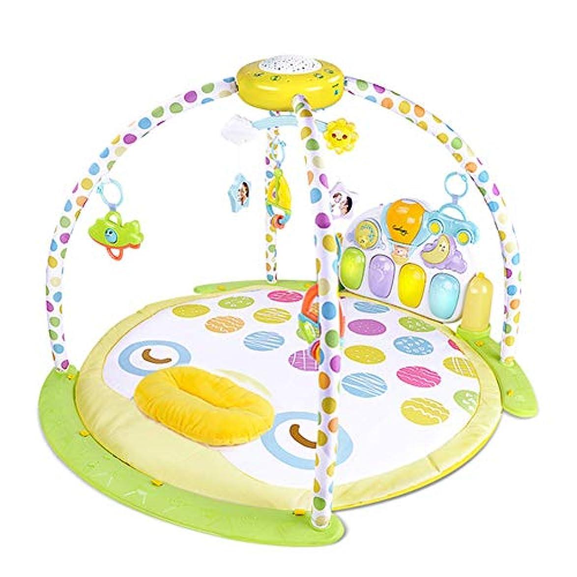 くつろぐ治す概して音の赤ちゃんピアノ再生マット多機能活動フクロウ再生マット新生児と 0 ヶ月の古い男の子の赤ちゃんのためのマットを再生します。