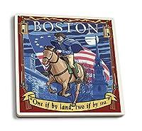 コンコード、マサチューセッツ州–ポール・リビア 4 Coaster Set LANT-44106-CT