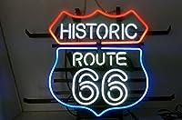 """Historic Route 66ネオンサイン表示Store Beer Bar PubガレージMan Caveホームライトサイン20"""" x16"""""""