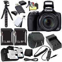Canon PowerShot sx530HSデジタルカメラ(ブラック) (インターナショナルモデル保証なし) + NB - 6lバッテリー+外部充電器+ 32GB SDHCカード+ 64GB SDXCカードセーバーバンドル