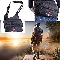 k-outdoor 釣りバッグ タックルバッグ 大容量 ウェストバッグ/ショルダーバッグ 肩掛け 斜めかけ 多機能 ブラック