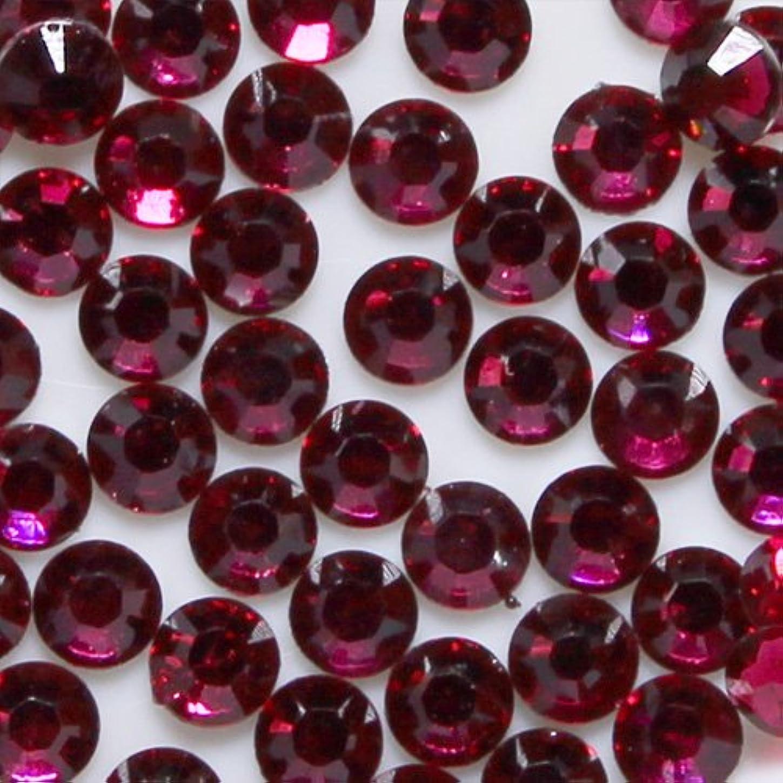 真珠のような健全違う高品質 アクリルストーン ラインストーン ラウンドフラット 約1000粒入り 3mm ルビー